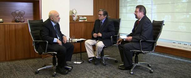 Da esquerda para a direita: Joseph Stiglitz; Paulo Moreira Leite; Florestan Fernandes Jr
