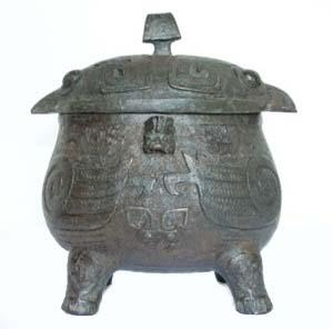 Vaso Yu. Bronze séc. XII AC. Dinastia Shang